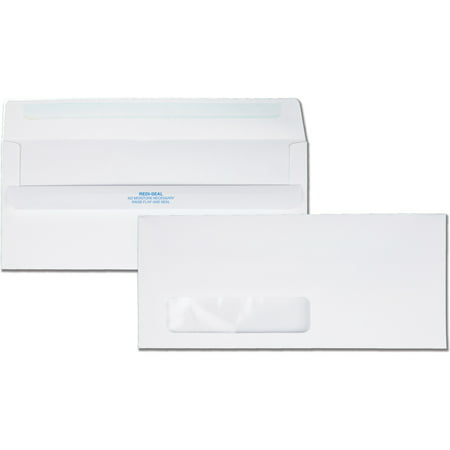Quality Park, QUA21318, Redi-Seal No. 10 Window Envelopes, 500 / Box, White