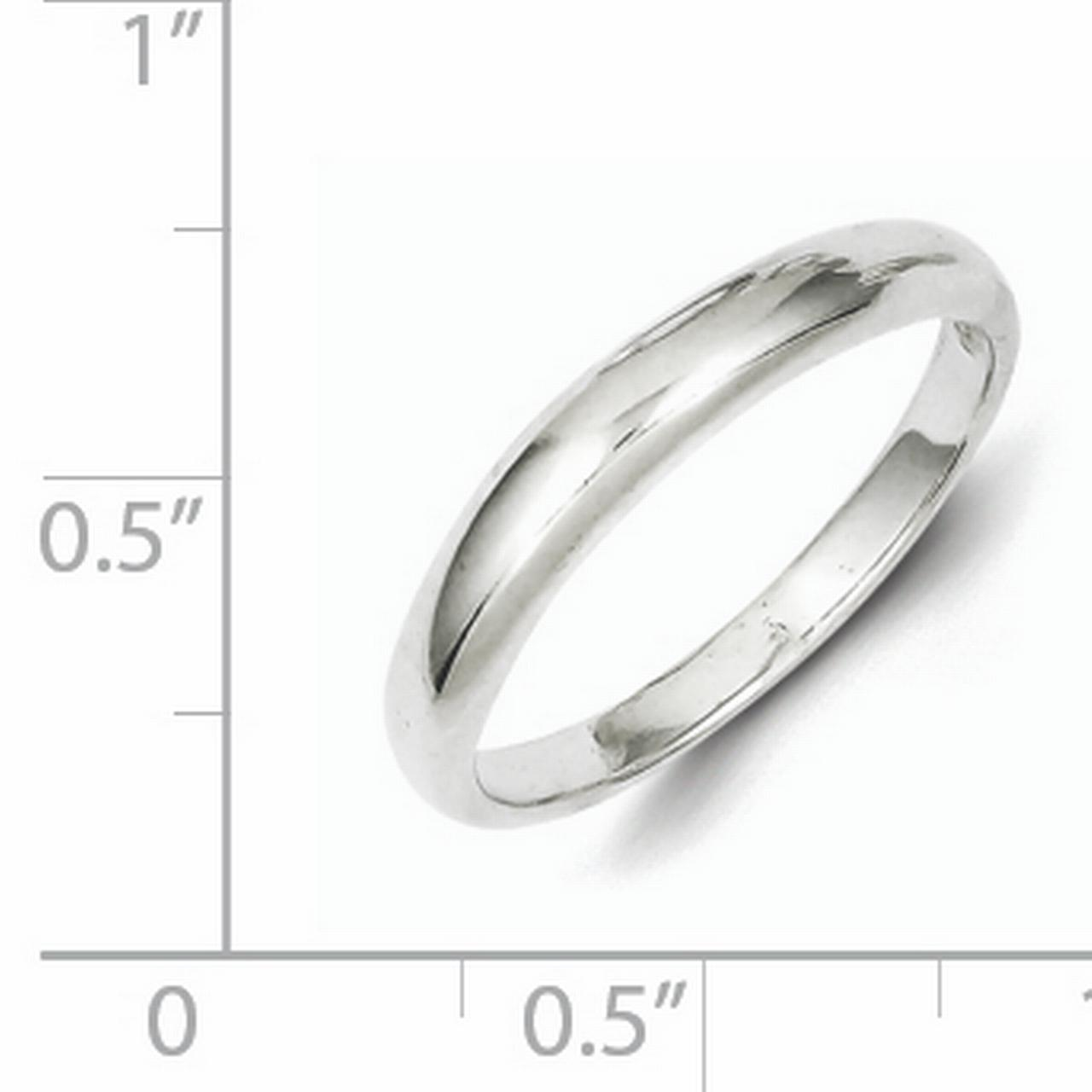 925 Sterling Silver Stackable Wedding Ring Band Size 8.00 Classic Fine Jewelry Gifts For Women For Her - image 1 of 2