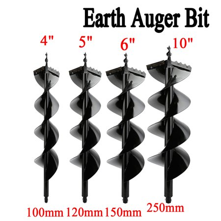 """4"""" 5"""" 6"""" 10"""" Earth Auger Post Hole Digger Bit for One/Two-Man Post Hole Digger-Without Hole Digger"""