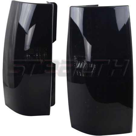 Chevy Tahoe Tail Lamp - Tail Light For 07-13 Chevy  Tahoe Black/Smoke Lens, Pair