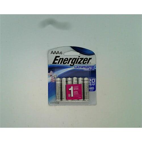 Energizer 6pk Ultimate Lithium AAA Batteries