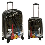 Rockland F212 2-Piece Polycarbonate/ABS Upright Luggage Set