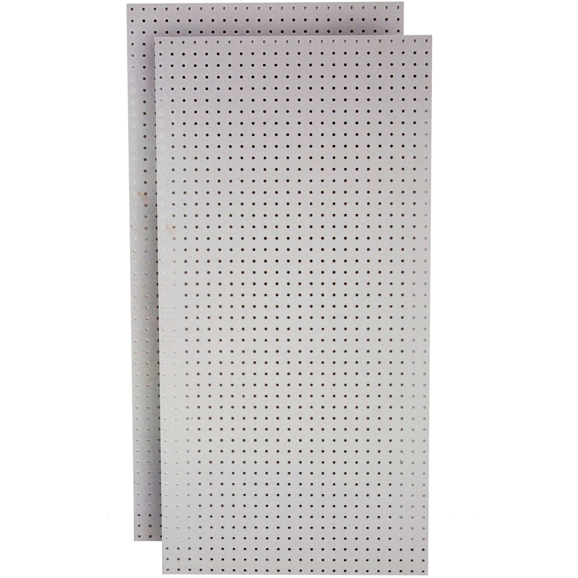 """DuraBoard (2) 24""""W x 48""""H x 1/4""""D White Polypropylene Pegboards with 9/32"""" Hole Size and 1"""" O.C. Hole Spacing"""