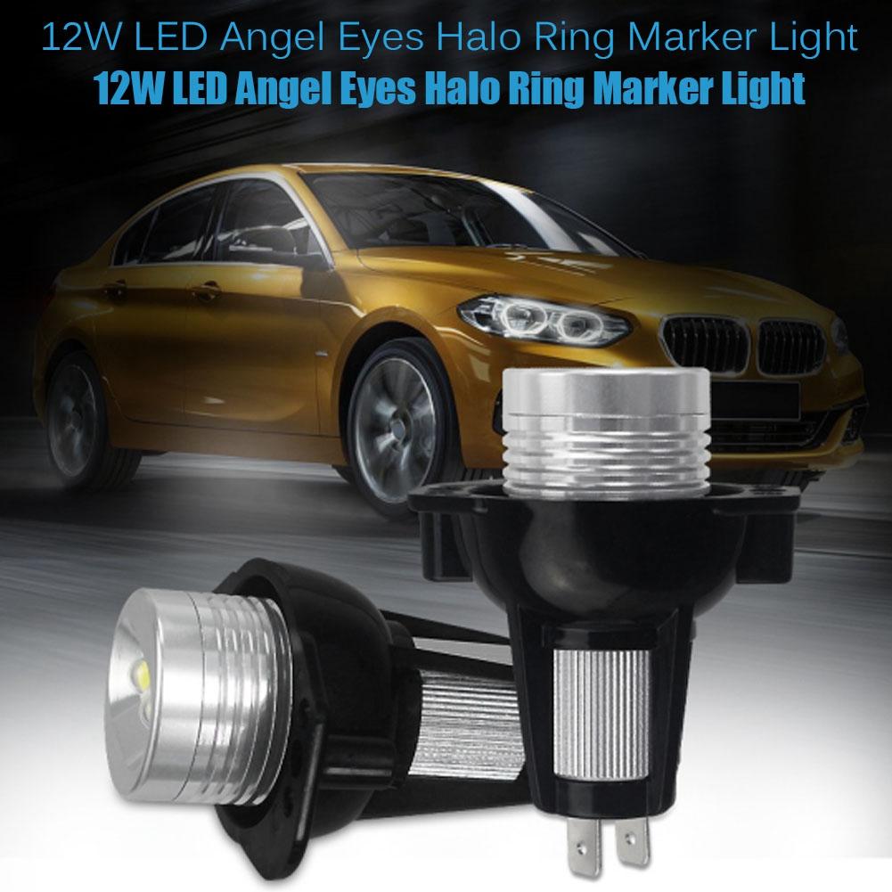 2Pcs 12W LED Angel Eyes Halo Ring Marker Light per E90 E91 2005 2006 2007 2008 Auto Angel Eyes LED Lampada