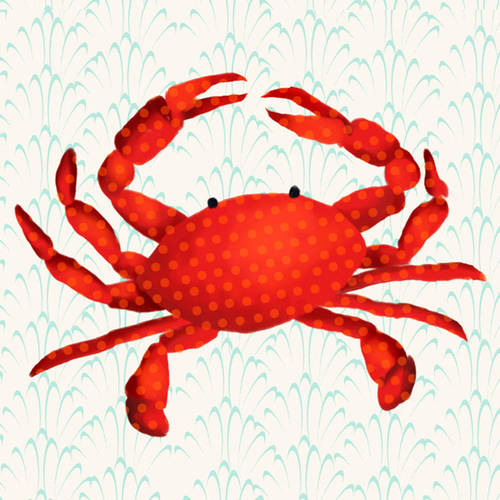 Oopsy Daisy's Otto the Crab Canvas Wall Art, 10x10