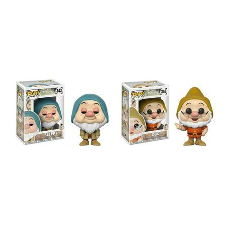 - Funko POP! Disney's Snow White and the Seven Dwarfs Sleepy Dwarf and Doc Dwarf Toy Action Figure - 2 POP BUNDLE WITH POP PROTECTOR
