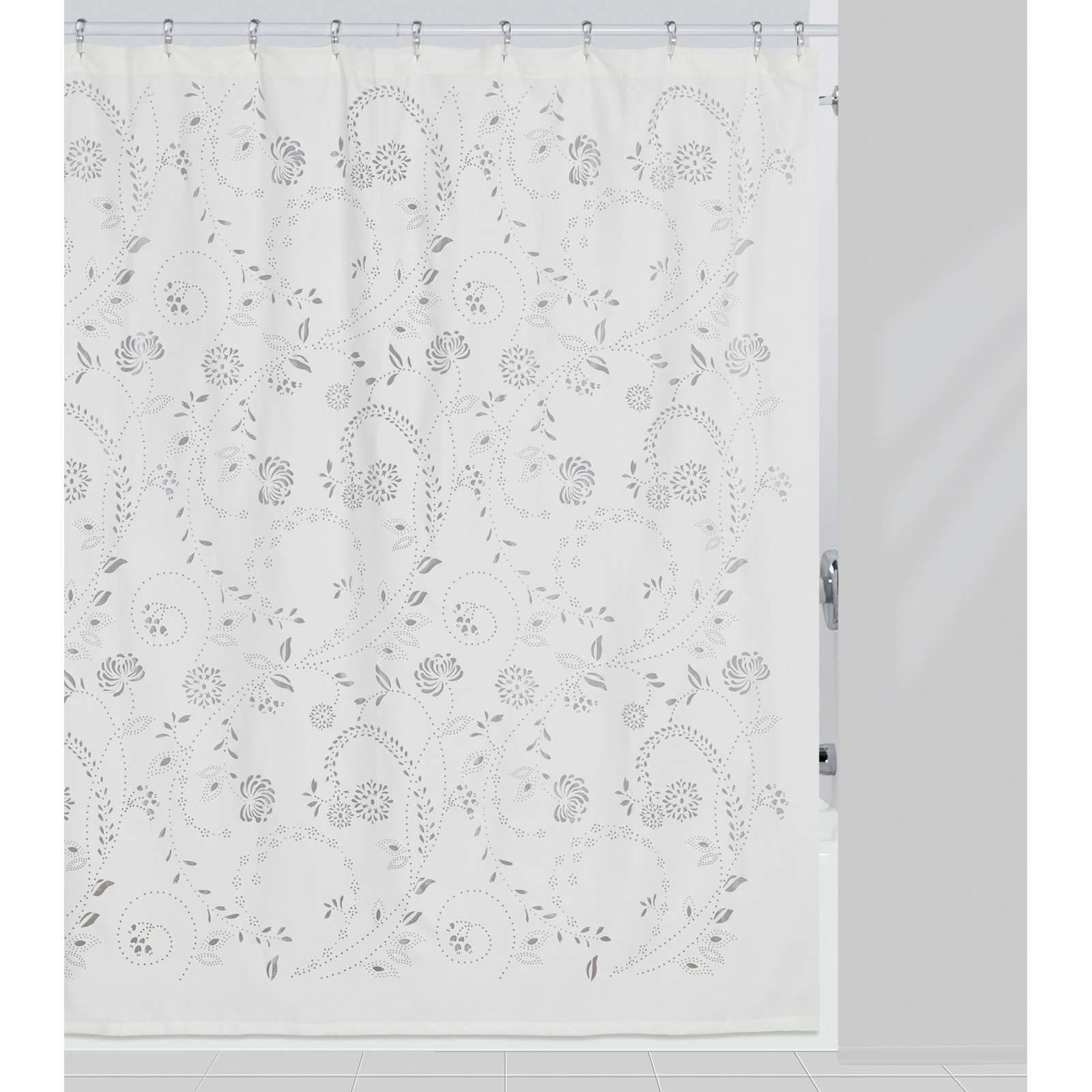 Eyelet 100 Polyester Shower Curtain White Creative Bath Brickseek