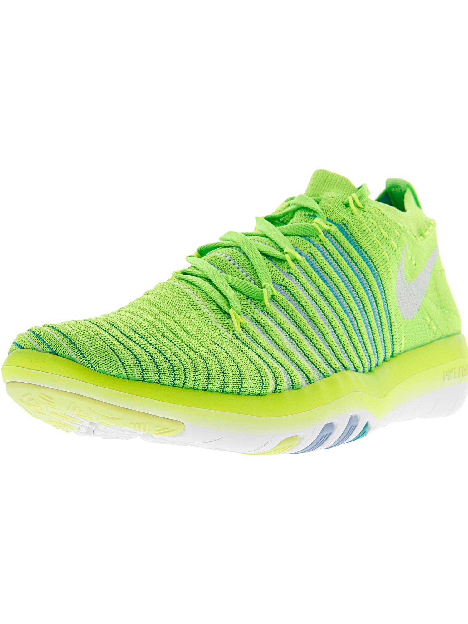 7c05d6511bdc Nike Women s Free Transform Flyknit Electric Green   White - Hyper ...