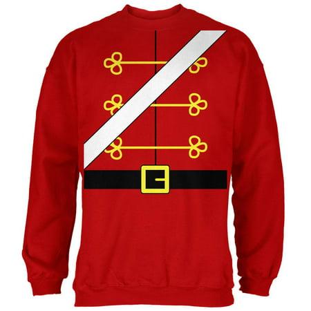 Christmas Toy Soldier Nutcracker Costume Mens Sweatshirt