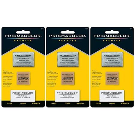 3-PACK - Prismacolor Premier Eraser Set - Kneaded, ArtGum and Plastic Erasers, Set of 3 per pack - Walmart.com
