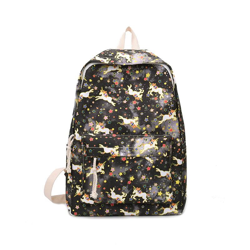 Kids 3D Unicorn Printing School Backpack Teenagers Schoolbag Outdoor Travel Bag