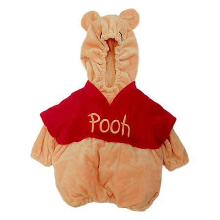 Winnie The Pooh Halloween Costumes For Toddlers (Infant Girls Yellow & Red Winnie The Pooh Hoodie Vest Halloween Costume)