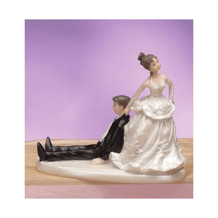 Wedding Bride and Groom Couple Funny Figurine Cake Topper Decoration Keepsake (Bride And Groom Halloween Cake Topper)