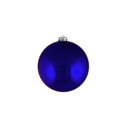12ct Shatterproof Shiny Royal Blue Christmas Ball Ornaments 4