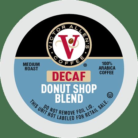 Victor Allen's Coffee K Cups, Decaf Donut Shop Single Serve Medium Roast Coffee, 200 Count, Keurig 2.0 Brewer Compatible (Decaf K Cups Donut Shop)