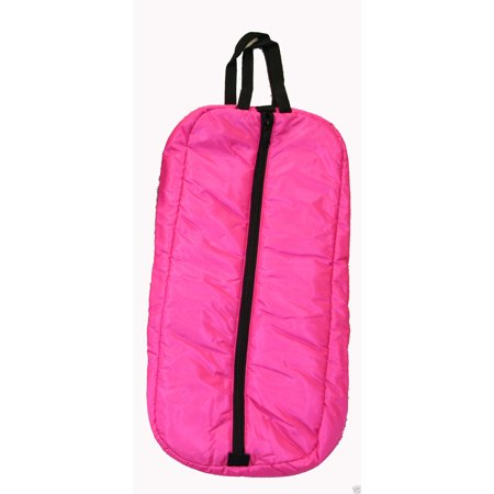 Premium Horse Bridle Halter Padded Bag Case Carrier Three Inner Loops Hot Pink (Carrie Brille)