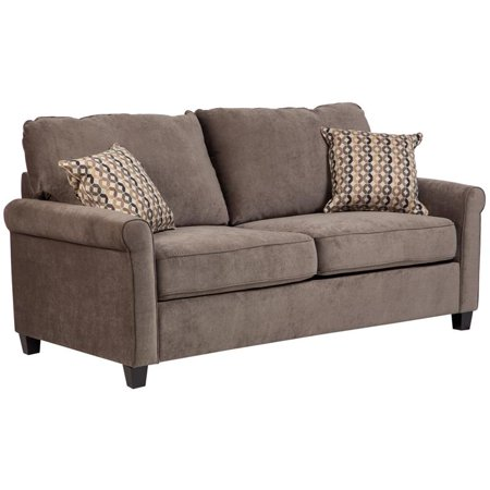 Serena Plush Microfiber Full Sleeper Sofa - Gray