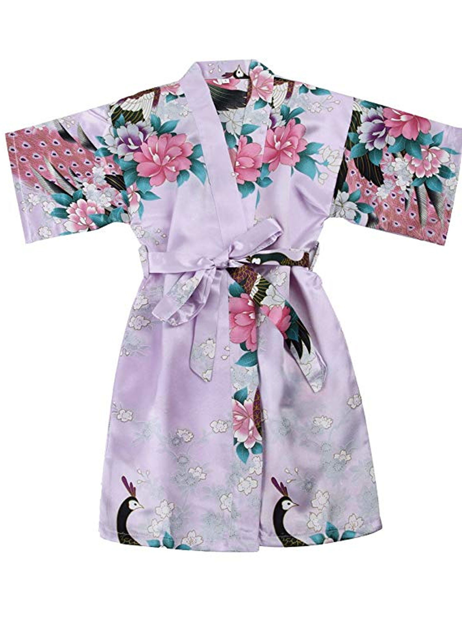 Floral satin feel Lavande maman et moi robes
