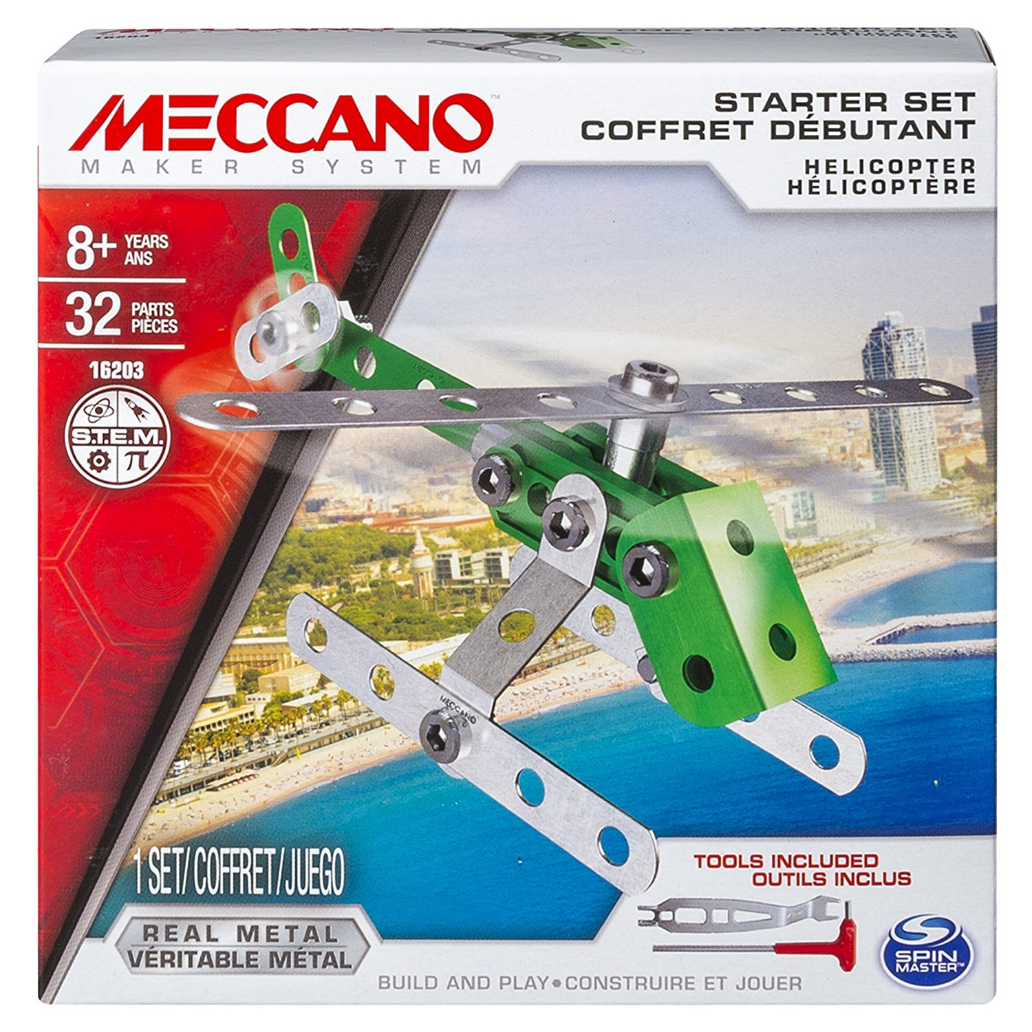 Mecanno, Starter Set, Helicopter, Model: 16203 By Meccano