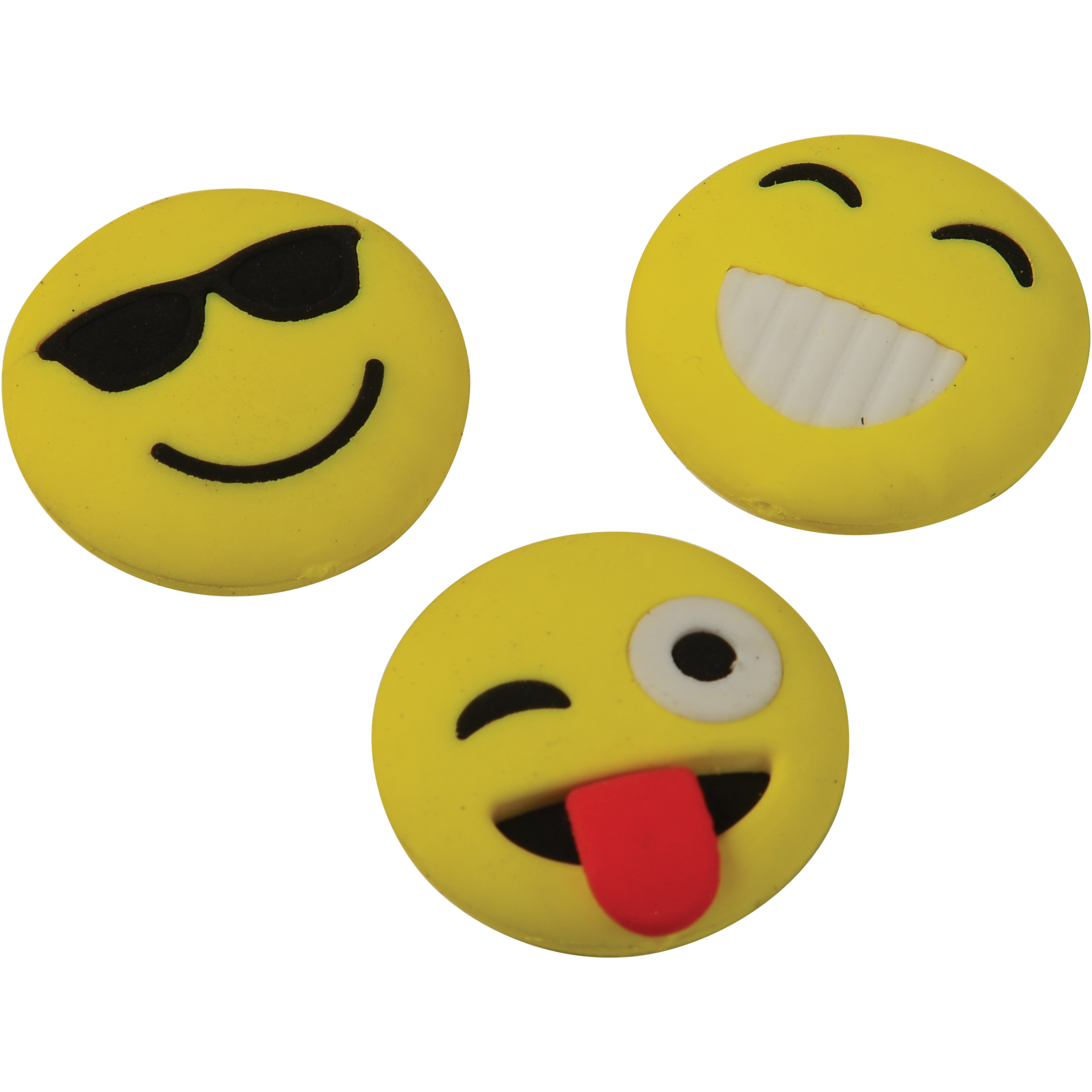 """US Toy Emoji Erasers 1.25"""" Party Favors, Assorted Colors, 12 Pack"""