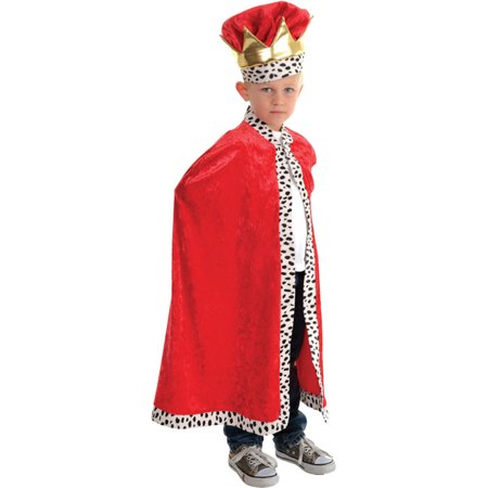 Morris costumes UR26164 Cape King Child Red