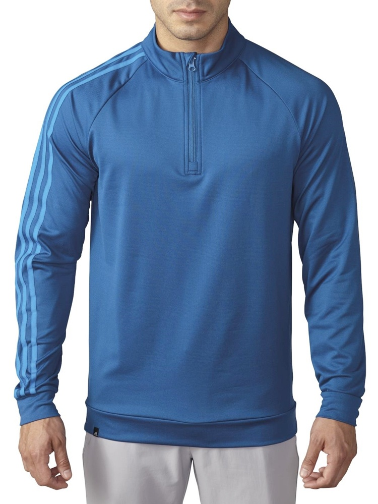 New Adidas Golf 3-Stripes 1/4 Zip Layering French Terry Fleece PICK Color & Size