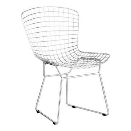 Remarkable Modern Contemporary Unique Chromed Steel Wire Dining Room Chairs Set Of 2 Uwap Interior Chair Design Uwaporg