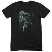 Dark Knight Rises Batman Rain Mens Tri-Blend Short Sleeve Shirt