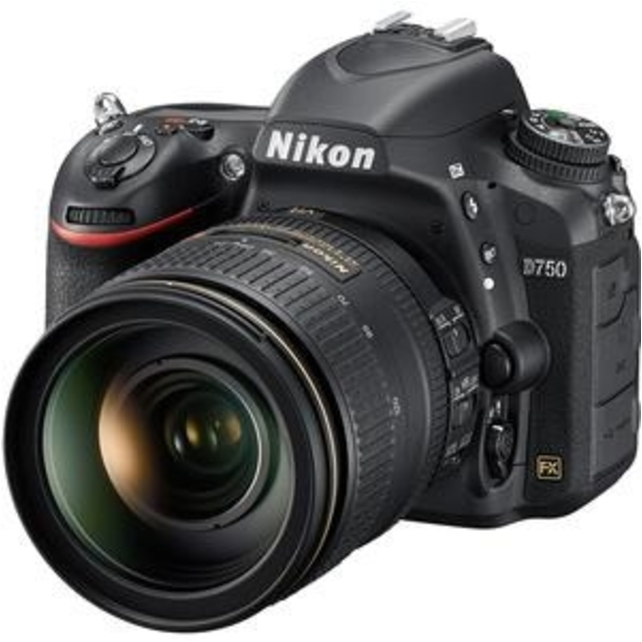 Nikon 1549 D750 24.3 Megapixel Digital SLR Camera with Lens 24 mm-120 mm 3.2in LCD 16:9 5x Optical Zoom i-TTL... by Nikon
