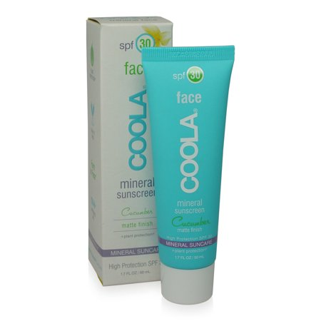 COOLA Mineral Face SPF 30 Sunscreen Lotion Matte Cucumber 1.7