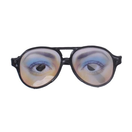 Halloween Trick Toy Female Funny Eyes Glasses Prank Disguise Eyeglass Party Props