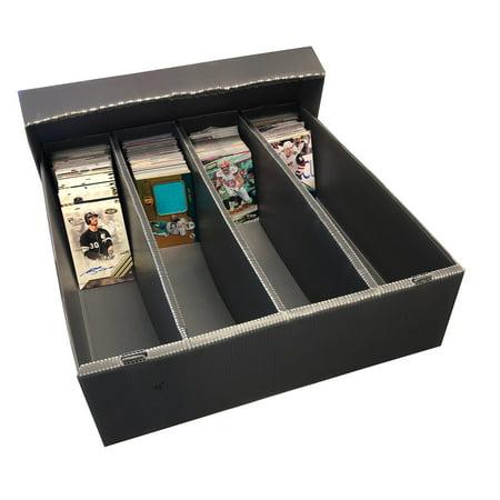 3200ct Trading Card Storage Box - PLASTIC - Gray (5 - Count) Card Storage Plastic Box