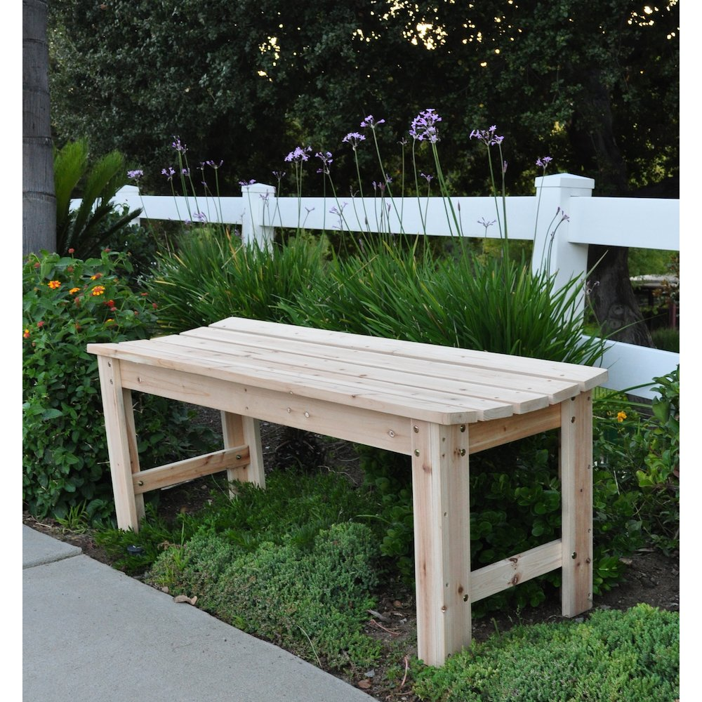 4 Ft. Backless Garden Bench Natural by Shine Company Inc