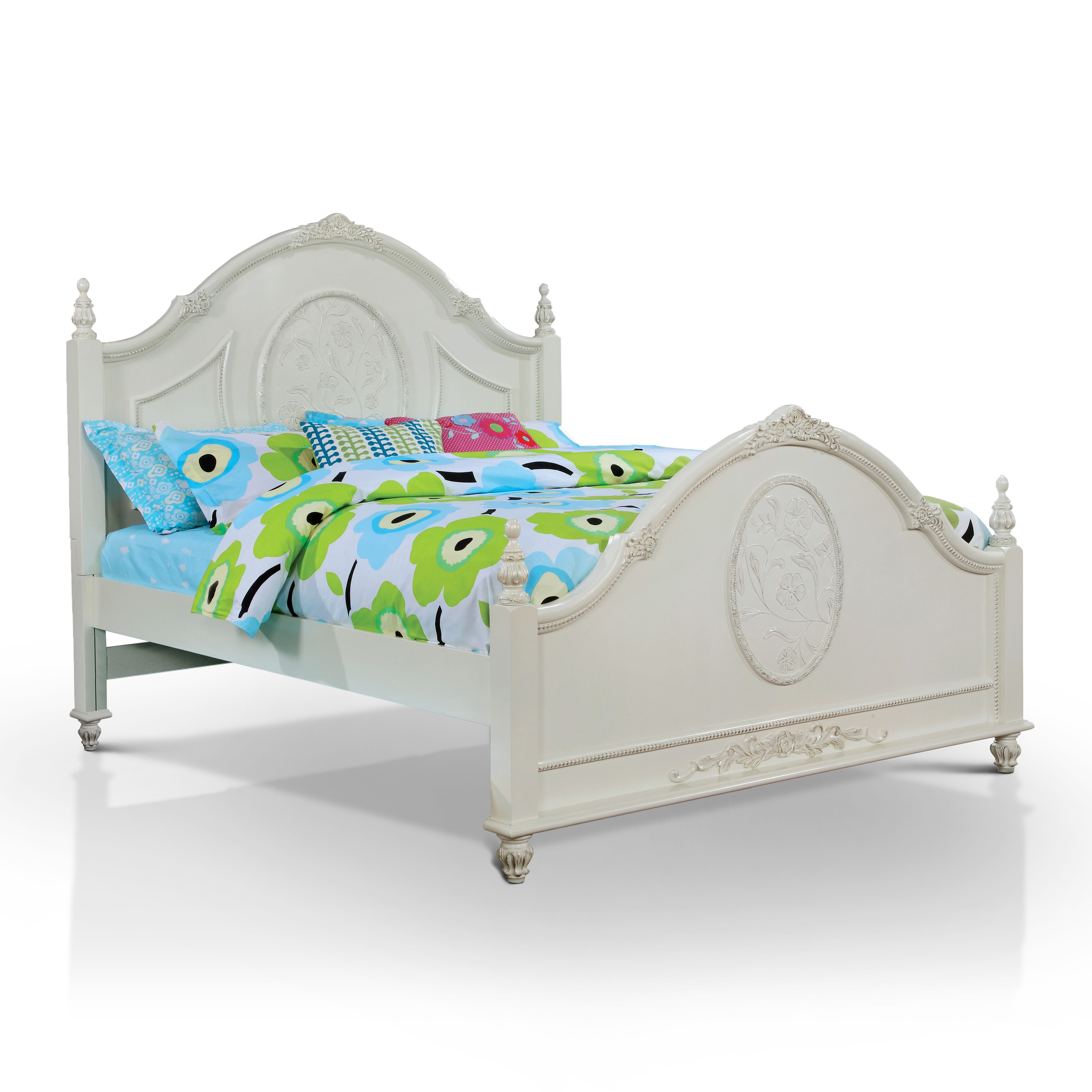 Furniture of America Margie Traditional Elegant Fairy Tale Style Floral Poster Bed by Overstock