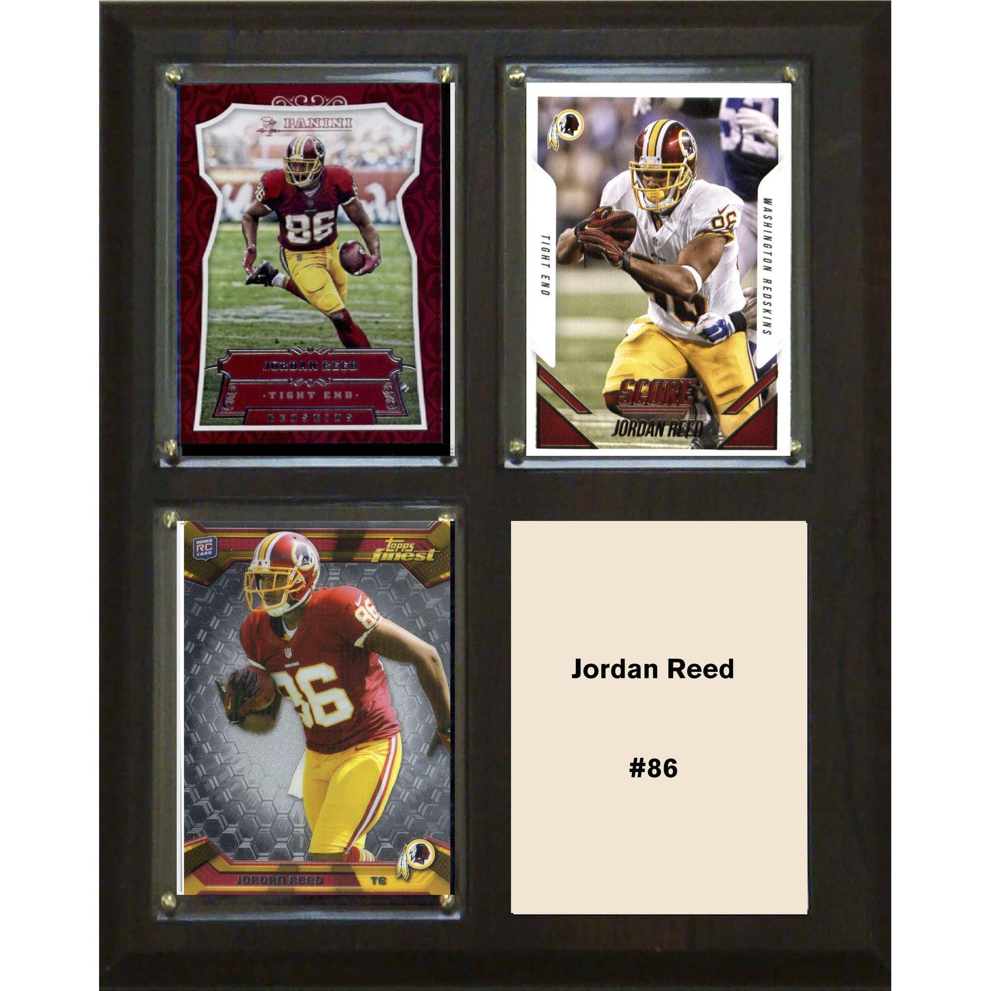 """C & I Collectables NFL 8"""" x 10"""" Jordan Reed Washington Redskins 3-Card Plaque"""