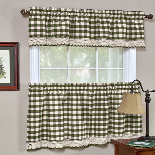 Woven Trends Kitchen Curtain Tier