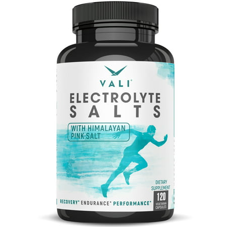 Electrolyte Salts Rapid Oral Rehydration Replacement Pills - 120 Capsules. Mineral Hydration Balance Tablets for Active Fluid Recovery Health.