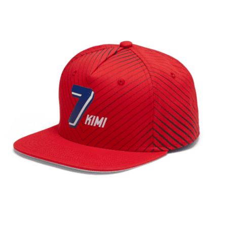 Ferrari Kimi Raikkonen #7 Flatbrim Hat (Ferrari Kimi)