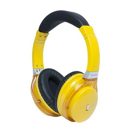 Miikey Rhythm NFC Yellow Bluetooth,NFC Headphone with Microphone & HD Audio ()