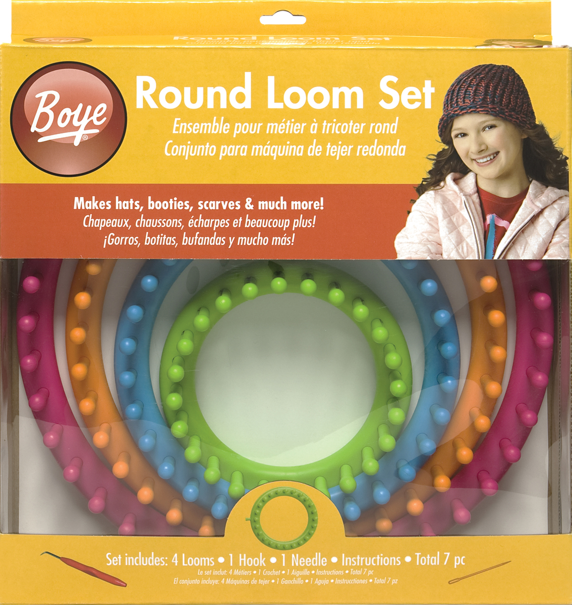 Boye Round Loom Set, 7 pc.