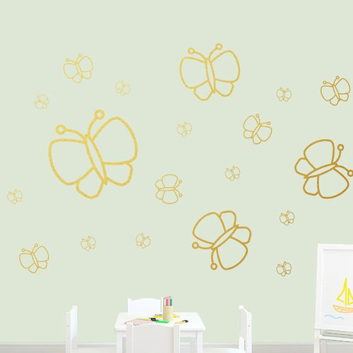 Zoomie Kids Harty Butterflies Wall Decal