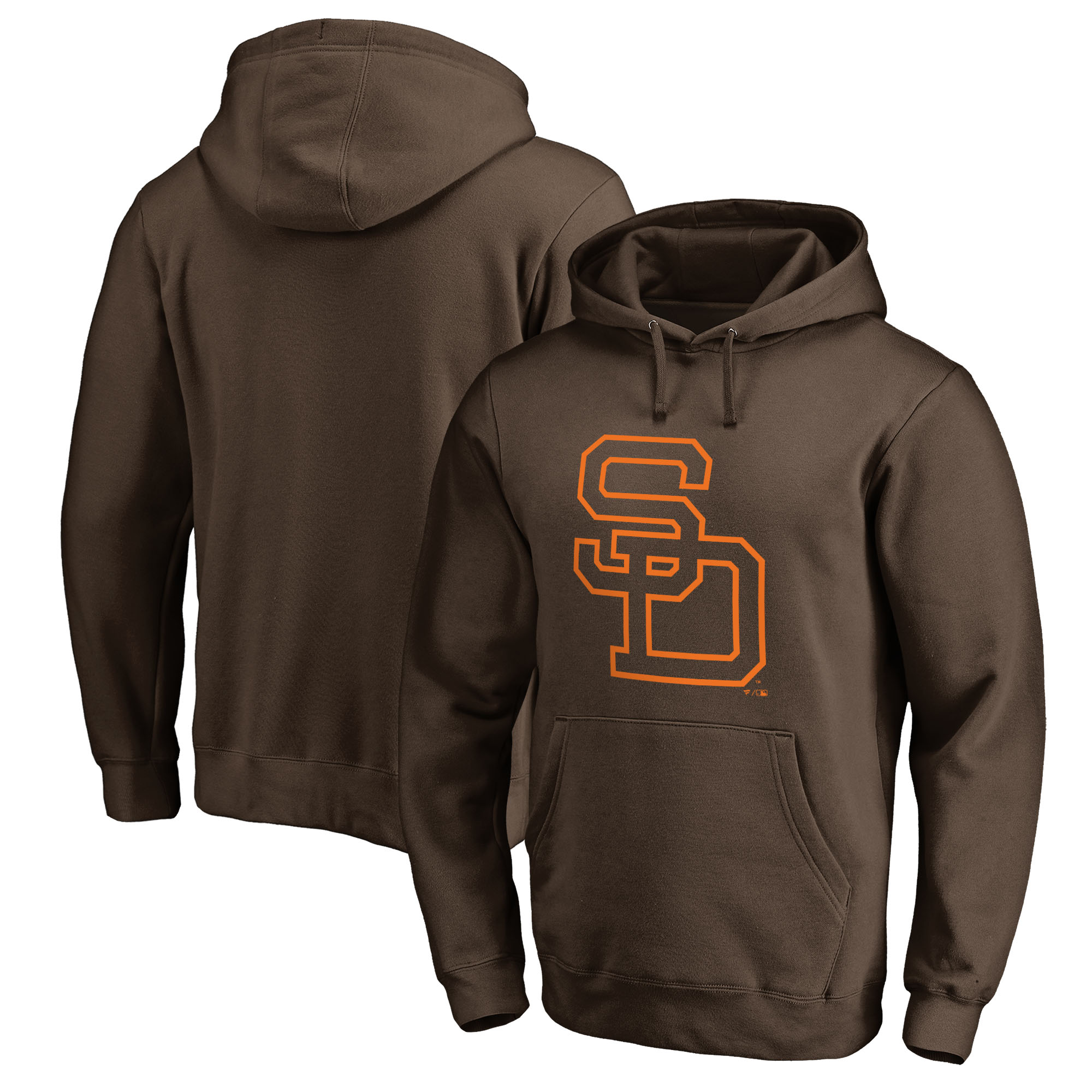 San Diego Padres Fanatics Branded Cooperstown Collection Huntington Pullover Hoodie - Brown