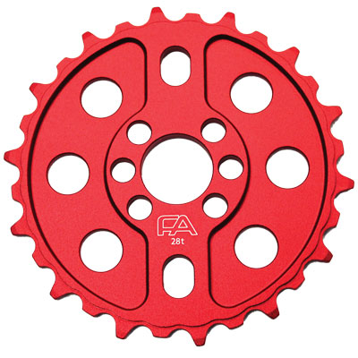 Free Agent Sprocket  Cnc 25T Red