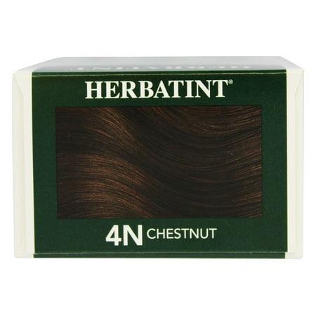 Herbatint Permanent Herbal Haircolor Gel, 4n-Chestnut, 4.5 oz - Herbatint Hair Color Gel