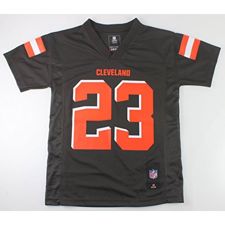 Joe Johnson Jersey - Joe Haden Cleveland Browns #23 NFL Youth Mid-tier Jersey Brown (Youth Small 8)