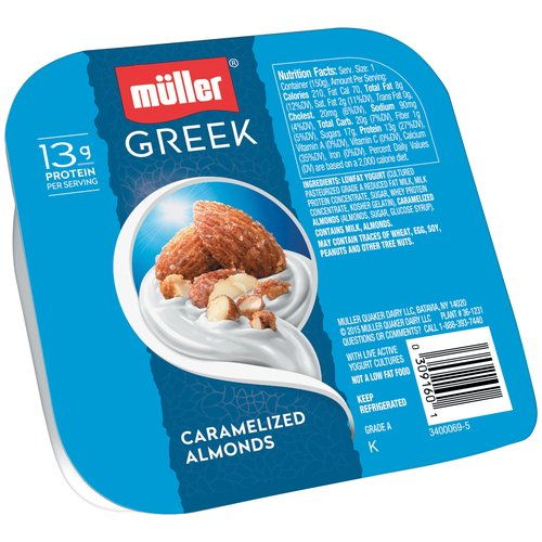 Muller Caramelized Almonds Greek Yogurt, 5.3 oz