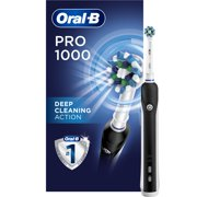 Oral-B 1000 Crossaction Electric Toothbrush, Black, Powered By Braun, 1 Refill