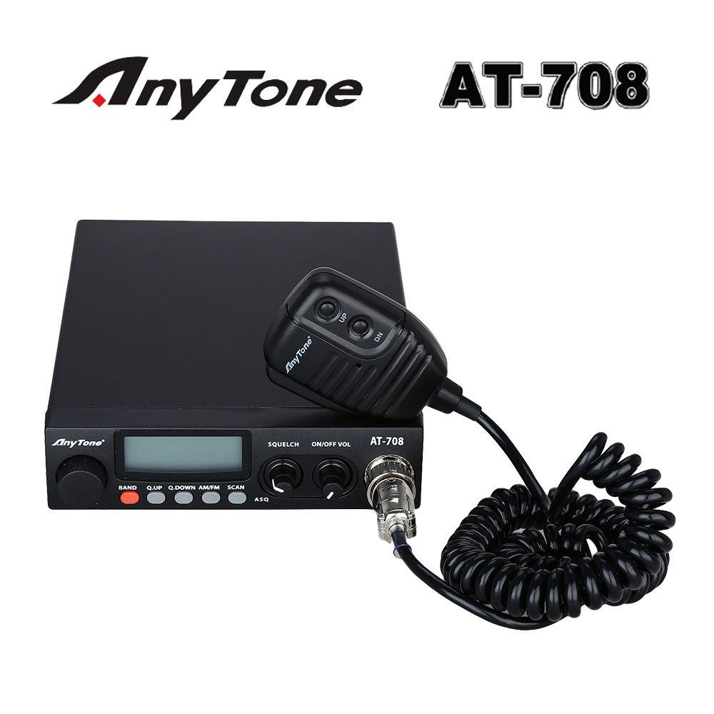 AT-708 Amateur Ham Mobile CB Radio 2 Way Transceiver Cars Trucks 400CH Portable
