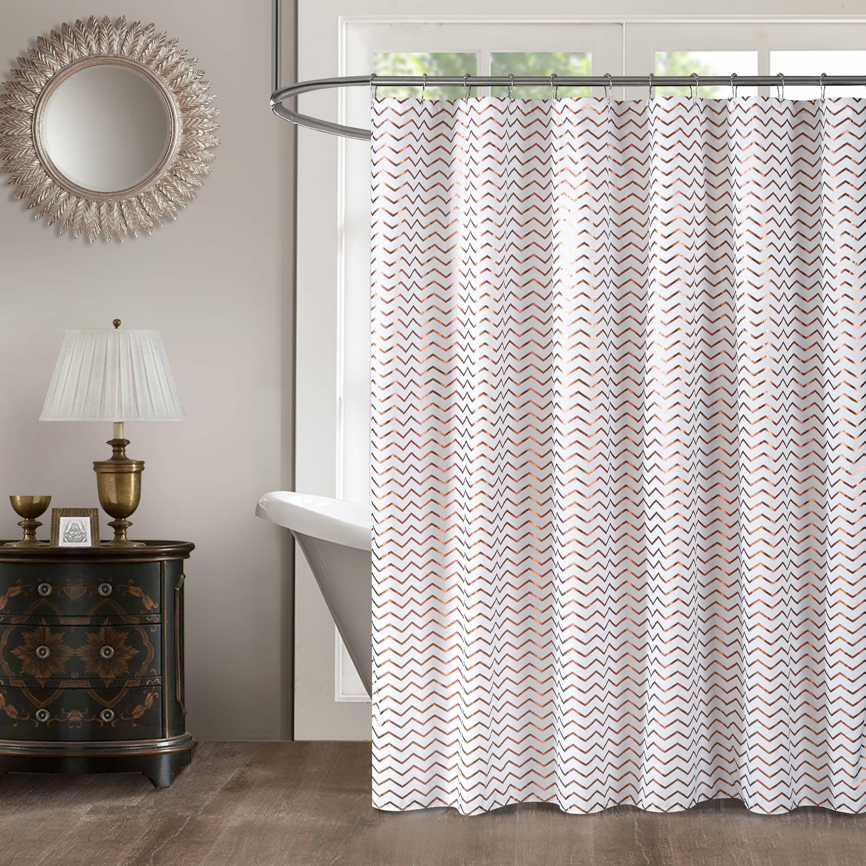 Mainstays Modern Gold Metallic Shower Curtain