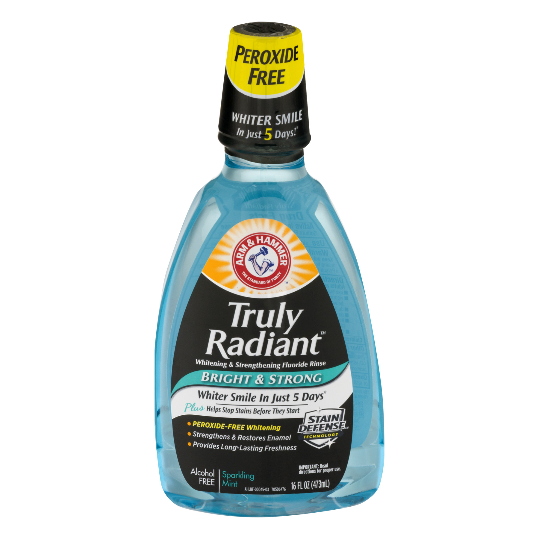 Arm & Hammer Mouthwash Bright & Strong Alcohol Free Sparkling Mint, 16.0 FL OZ